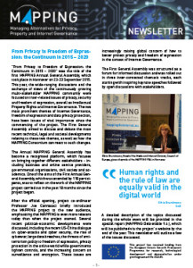 MAPPING Newsletter 3 front cover